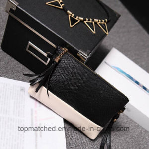 Fashion Crocodile Women Leather Messenger Bags Tassel Satchel Crossbody Shoulder Bag pictures & photos