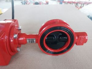 Made in China FM UL Fire Signal Wafer Butterfly Valve Price pictures & photos