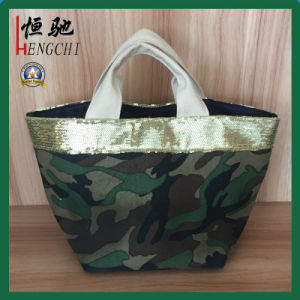 Quality Canvas Camouflage Women Tote Bag with Polyester Lining pictures & photos