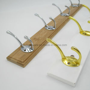 High-Grade Beautiful Clothes Hooks Wooden & Metal Row Hooks (ZH-7002) pictures & photos