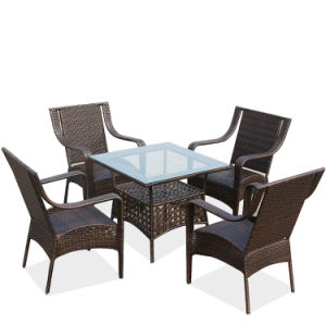 Foshan Cheap Garden Furniture Outdoor Rattan /Wicker Table and Chairs (Z355) pictures & photos