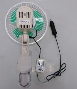 DC 12V 6 Inch Oscillating Car Fan with Gimbal Heavy-Duty Clip pictures & photos