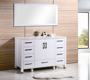 White Matt Nine Drawers Painting Bathroom Cabinet pictures & photos