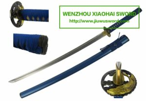 Blue Handmade Katana Wakizashi Tanto HK105 pictures & photos