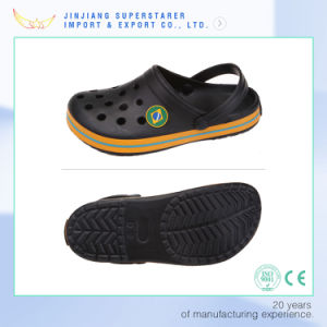 Black EVA Clogs Sandals, Breathable Mesh Shoes with Side Strap pictures & photos