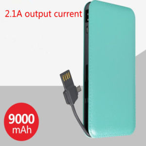 The 2ND Generation Ultrathin Mobile Power Bank 9000mAh 2.1A Output Current pictures & photos