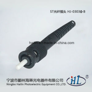 St 3.0mm Fiber Optic Connector with Ferrule for Assembly Patch Cords pictures & photos