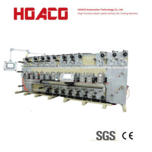Ce Certificated Full Automatic Rotary Die Cutting Machine 12 Stations with Moveable Station for Process Films
