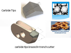 Carbide Tips for Trench Cutters pictures & photos