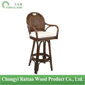 Natural Rattan Hospitality Classic Swivel Barstool Counter Chair pictures & photos