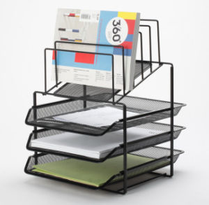 Desk Tray Organiser/ Metal Mesh Stationery Organizer/ Office Desk Accessories pictures & photos