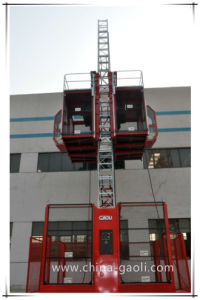Gaoli Frequency Middle Speed Electric Powered Construction Lifter (SC200/200G) pictures & photos