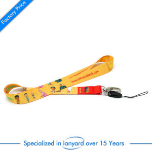 Promotional Polyester Screen Printed Neck Lanyard with Safety Buckle pictures & photos