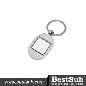 Bestsub Rotating Square Zinc Alloy Sublimation Key Ring (YA10) pictures & photos