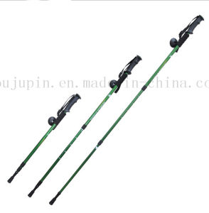 OEM Aluminium Alloy Folding Adjustable Trekking Pole for Hiking pictures & photos