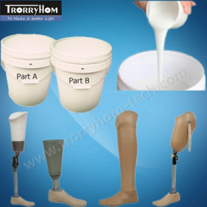 Pouring Silicone Rubber for Lifecasting Face Leg Breast Ear pictures & photos