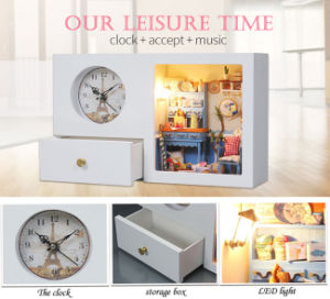 3D Wooden Toy Clock Home Decor pictures & photos