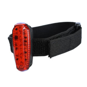 5 LED Red Blue USB Rechargeable Bike Tail Running Warning Lamp pictures & photos
