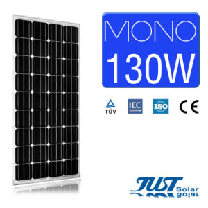 130W Mono Solar Panel with Certification of Ce CQC and TUV