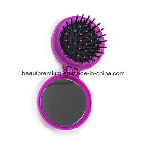 Hot Sell Plastic Round Pocket Make up Mirror Comb BPS097 pictures & photos