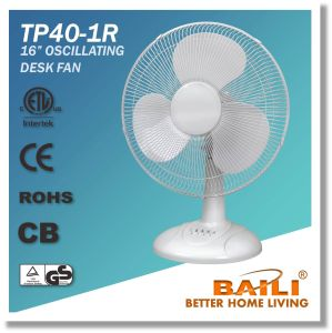 16 Inch Oscillating Cooling Desk/Table Fan with Powerful Motor pictures & photos