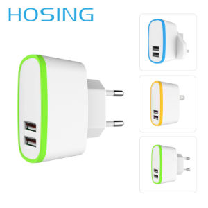 Dual USB Cellphone Charger Adapter for iPhone Universal Wall Charger pictures & photos