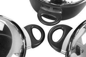 Cast Aluminum Pots and Pans Cookware Set with Bakelite Handles pictures & photos
