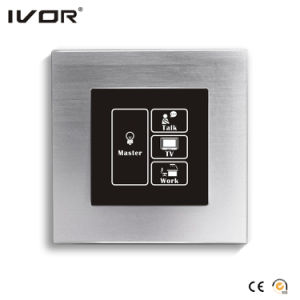 Networking Lighting Switch Touch Panel with Scene Control Aluminum Alloy Frame (HR1000-AL-S-CAN) pictures & photos