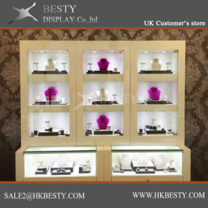 Customized Vneer Finish Jewelry Display Showcase pictures & photos