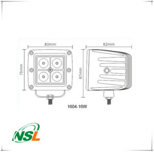16W LED Driving Light Spot 4X4wd off Road Driving Pods for Jeep Fog Driving Lights pictures & photos