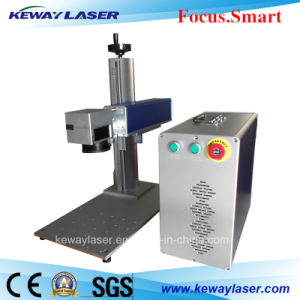 Air Cooling Metal Portable Fiber Laser Marking Machine pictures & photos