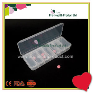 7 Days 7 Compartments Rectangle Translucent Pill Box With Cover pictures & photos