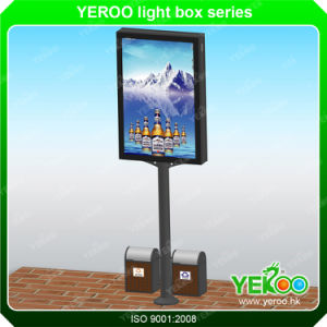 Outdoor Double Sided Aluminum Lamp Pole Light Box pictures & photos