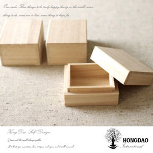 Hongdao Unfinished Custom Size Wooden Heaven and Earth Cover Lid Box_C pictures & photos