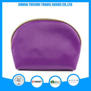 2017 Popular Round Shape Zipper Cosmetic Bag PU Makeup Bag for Beauty pictures & photos