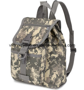Lady Women Camouflage Outdoor Sports Small Double Shoulder Backpack (CY3618) pictures & photos
