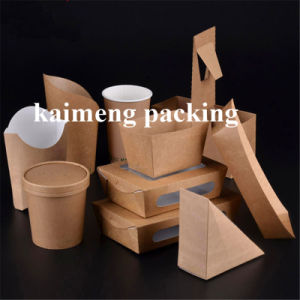 Food Grade Kraft Package Disposable Paper Container Box (paper container box) pictures & photos