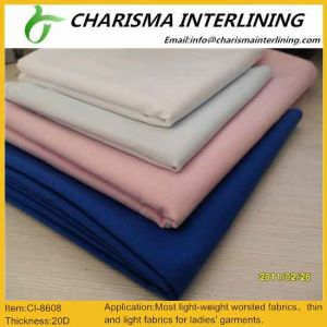 20d Thin Garment Accessories Woven Fusing Knitted Fabric Interlining pictures & photos