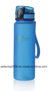 600ml 20oz Plastic Water Bottle, Gray Sport Bottle, Customized Color and Design Bottle pictures & photos