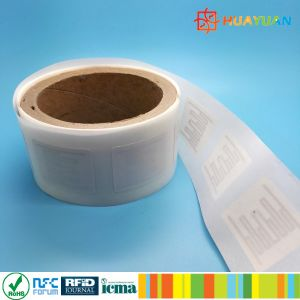 NFC UHF dual frequency EM4423 tamper proof RFID inlay label tag pictures & photos
