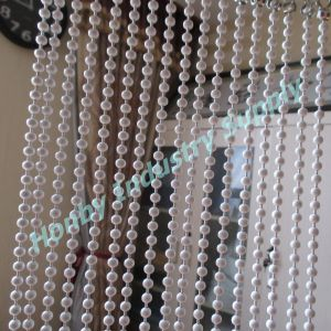 White 6mm Hanging Metal Ball Chain Room Partition