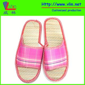 Fabric Strap EVA Slipper with Straw Insole pictures & photos