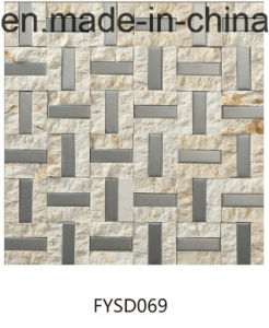 Metal Mixed Marble Mosaic Floor Tile for Building Material (FYSD070) pictures & photos