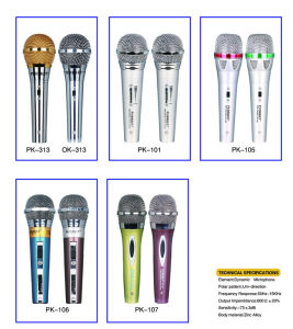 Fashion Design Mixer Microphone TV with Original Songs Vocal on/off Function pictures & photos