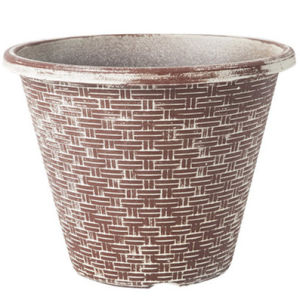 Big Bamboo Bucket Shape Plastic Pot