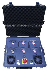 6CH 600W Draw Bar portable Uav Drone Jammer 5.8g 2.4G GPS Uav Jammer pictures & photos