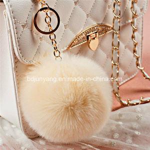 Fuzzy Ball Keychain Fake Rabbit Fur Ball pictures & photos