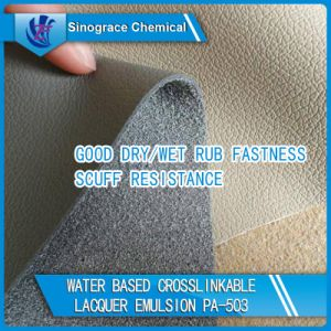 Water Based Crosslinkable Lacquer Acrylic Emulsion for Leather Skin pictures & photos