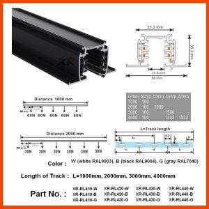 TUV 3cricuits Recessed LED Aluminum Profile Lighting Track Rail (XR-RL410) pictures & photos