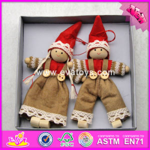 2017 New Products Christmas Cartoon Characters Wooden Baby Dolls for Toddlers W02A231 pictures & photos